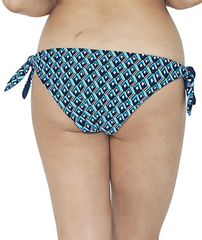 Curvy Kate Wanderlust Reversible Tie Side Bikini Brief - Blue Mix - Back