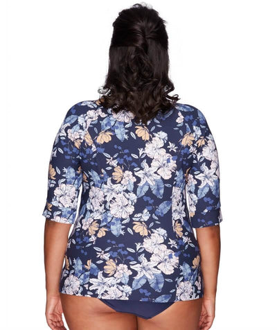 Artesands Sunsafe Short Sleeve Top - Blossom Assemblage - Back
