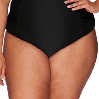 Artesands Rouched Side High Waist Brief - Black