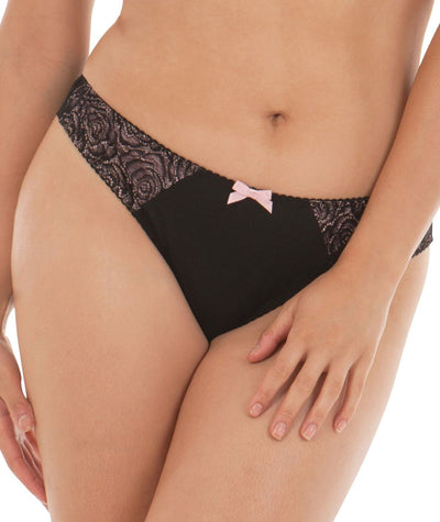 Curvy Kate Can Can Brazilian Brief - Black / Blush