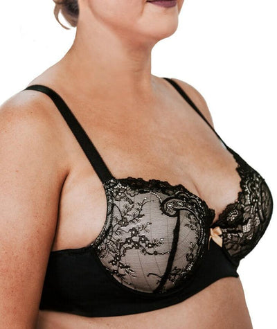 Lady Emprezz Rizzo Padded Shaping Bra - Black/Nude - Side