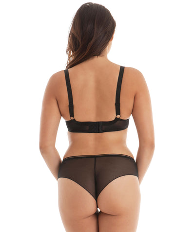 Curvy Kate Lifestyle Plunge Bra - Black - Model - Back