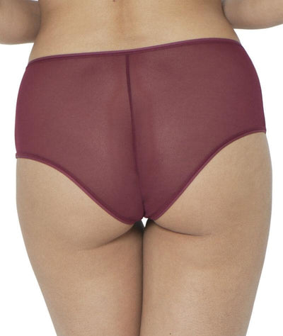 Curvy Kate Victory Short - Wine - Back