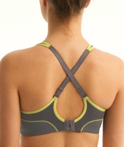 Triumph Triaction Performance Sports Bra - Titanium - Crossover - Back
