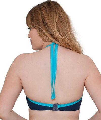 "Curvy Kate Set Sail Halter Bikini - Indigo Mix ""Back"""