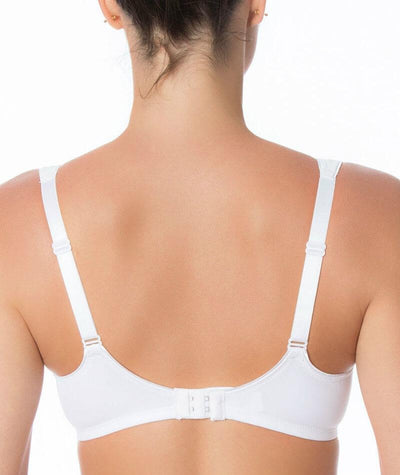 Triumph Modern Soft + Cotton Underwire Bra - White - Back