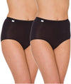 Triumph Sloggi Maxi Brief 2 Pack - Black - Front View