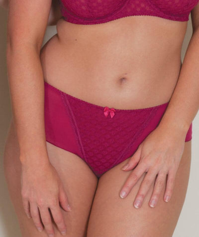 Curvy Kate Dottie Short - Sangria - Model - 1