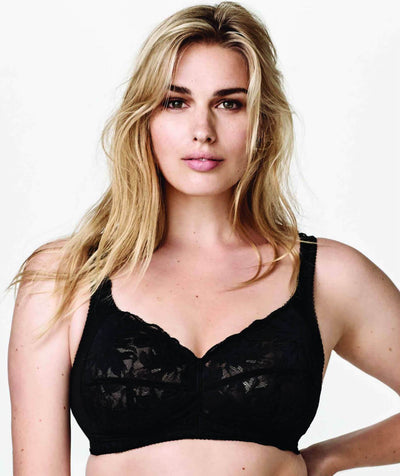 Fayreform Lounging Lace Wirefree Bra - Black