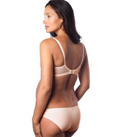 Hotmilk Show Off Luxe Full Cup Maternity & Nursing Bra - Silver Peony - Model - Back