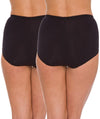 Triumph Sloggi Maxi Brief 2 Pack - Black - Back View