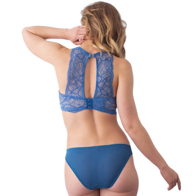 hotmilk Project Me Heroine Plunge Bra - Powder Blue