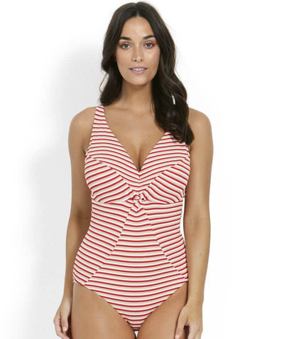 Milea Rouge Stripe Twist Front DD-E Cup Maillot One Piece Swimsuit - Stripe