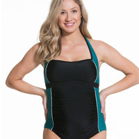Rosewater Creaming Soda One Piece Maternity Swimsuit -  Black