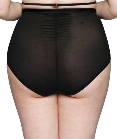 Scantilly Censored High Waist Brief - Black