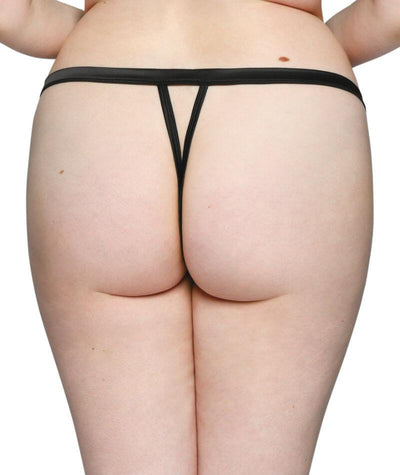 Scantilly Censored Thong - Black