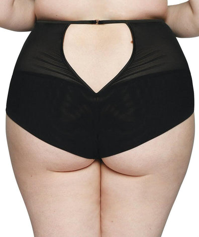 Scantilly Heart Throb High Waist Brief - Black/Red