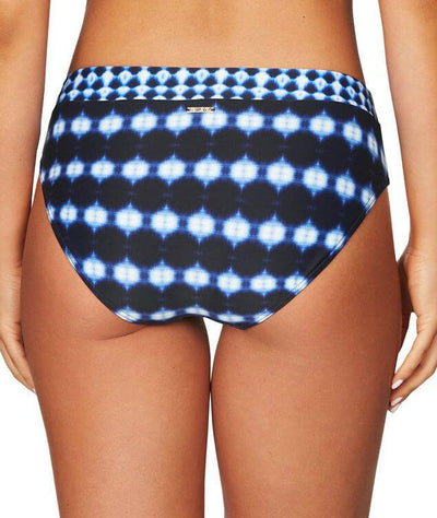 Sea Level Bandhani Spliced Mid Bikini Brief - Navy
