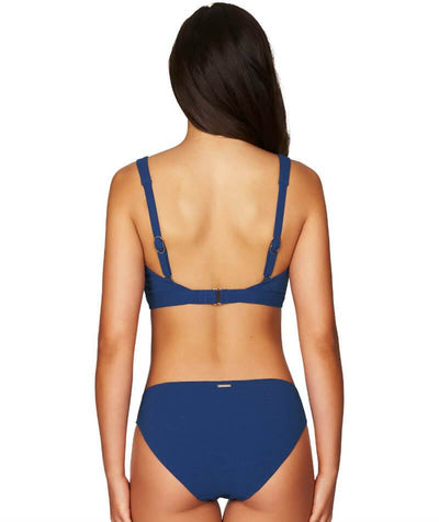 Sea Level Riviera Rib Square Neck A-D Cup Bikini Top - Ocean Blue