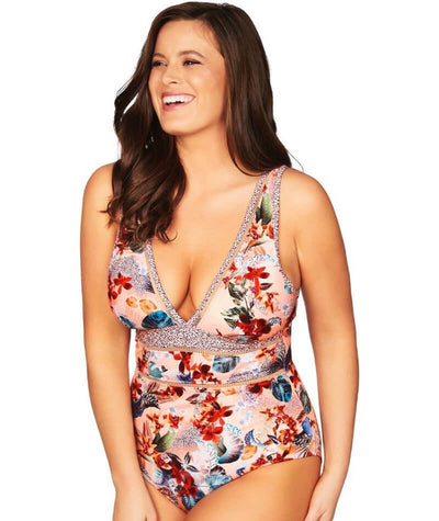 Sea Level Tropicana Spliced B-D Cup One Piece Swimsuit - Multicolour