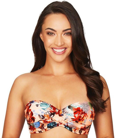 Sea Level Tropicana Twist Front B-D Cup Bandeau Bikini Top - Multicolour