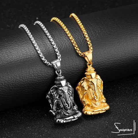 Collier Ganesh Or