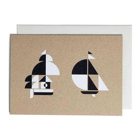 Set Of Three 5x7 Inch Silkscreened Note Cards