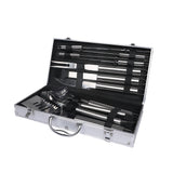 10Pcs Stainless Steel BBQ Tool Set Outdoor Barbecue Utensil Aluminium Grill Cook - Australian Offers Store