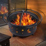 Outdoor Fire Pit BBQ Portable Wood Camping Fireplace Heater Patio Garden Grill - Australian Offers Store