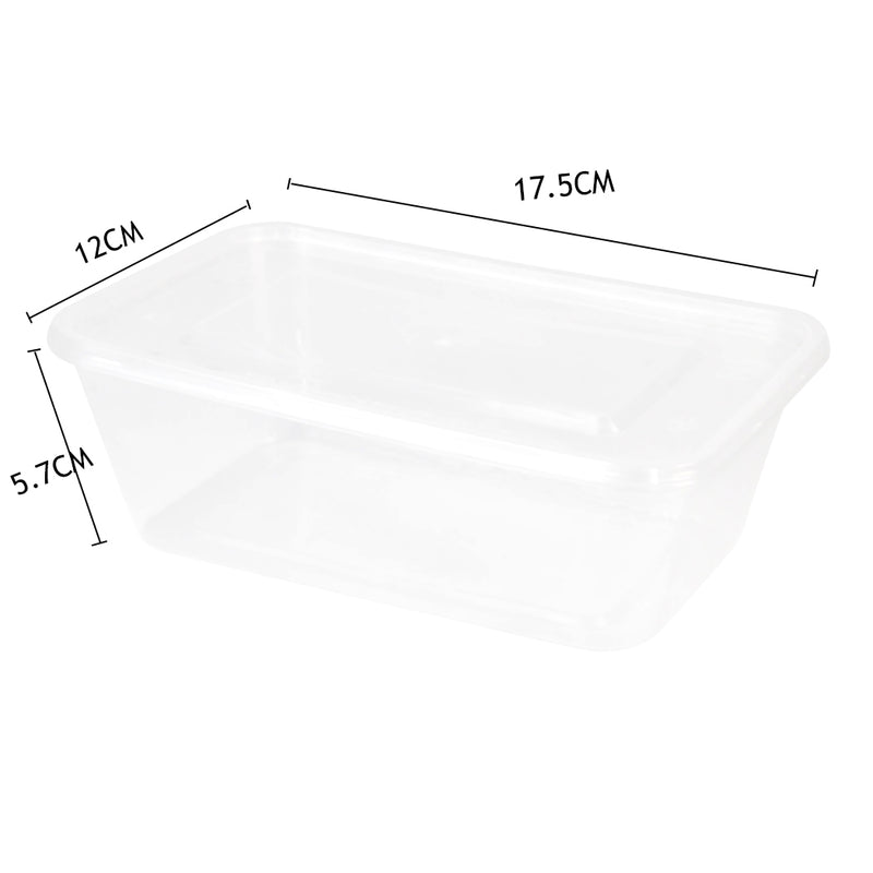 200 Pcs 750ml Take Away Food Platstic Containers Boxes Base and Lids Bulk Pack - Australian Offers Store