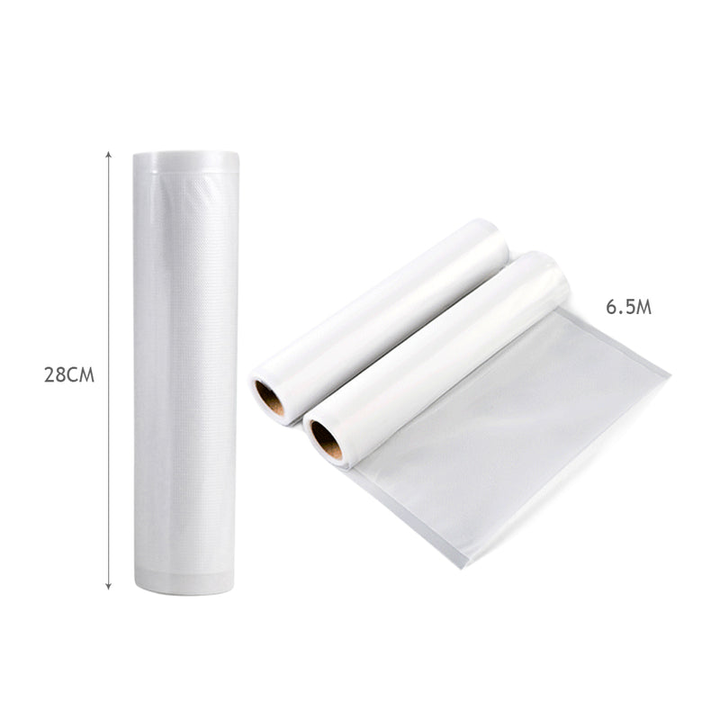 4 Rolls Vacuum Food Sealer Seal Bags Rolls Saver Storage Commercial Grade 28cm - Australian Offers Store