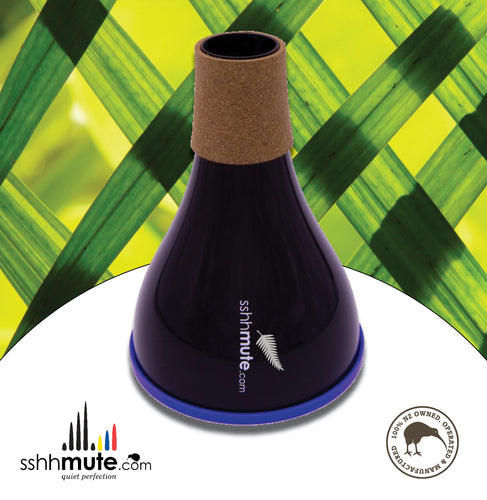 sshhmute Practice Mute for Flugel Horn - Limited Edition Silver Fern