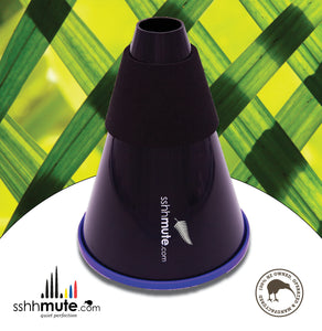 sshhmute Practice Mute for French Horn (Mark I) - Limited Edition Silver Fern