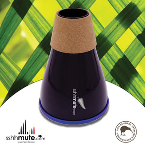 sshhmute Practice Mute for Tenor Horn - Limited Edition Silver Fern