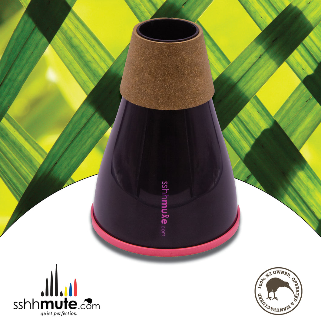 sshhmute Practice Mute for Bass Trombone - Limited Edition Pink Mute