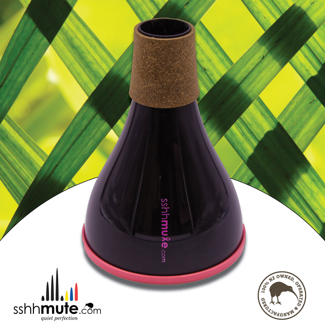 sshhmute Practice Mute for Flugel Horn - Limited Edition Pink Mute