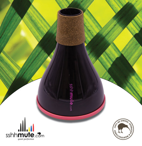 sshhmute Practice Mute for Tenor Trombone - Limited Edition Pink Mute