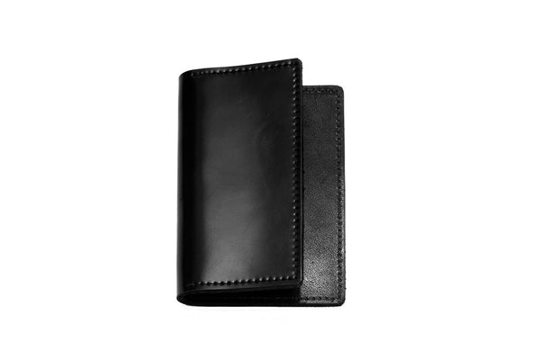 Shell Cordovan Card Case (Black on Black)