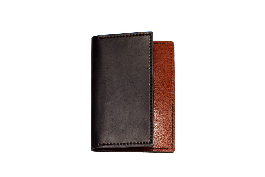 Shell Cordovan Card Case (Oxblood on Hickory)