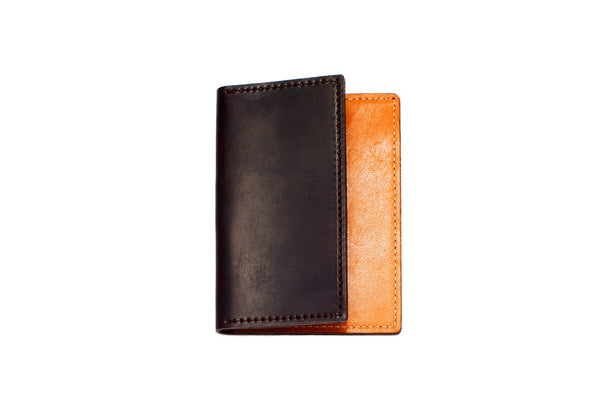Shell Cordovan Card Case (Oxblood on Nude)