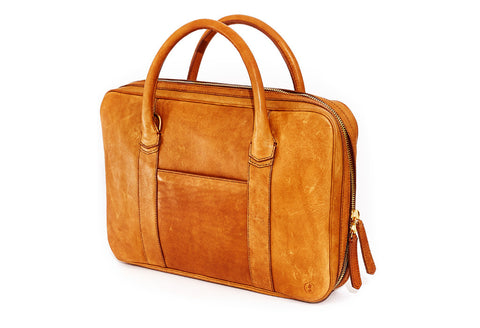 Slim Briefcase Tobacco