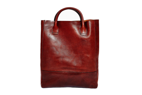 Oxblood Raw Tote