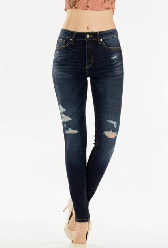 KanCan Boutique Exclusive Jeans-  Dark wash with minor distress-  Made in USA