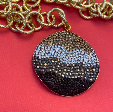 Pave Gold Chain Necklace