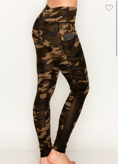 Camo Leggings Side Pocket