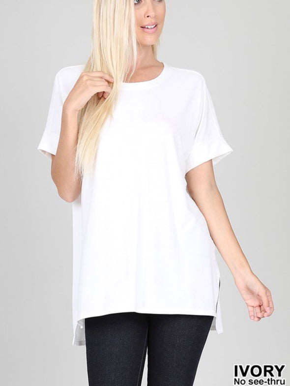 Side Slit Soft Tee