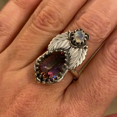 Sterling Silver Angel Wing Rainbow Mystic