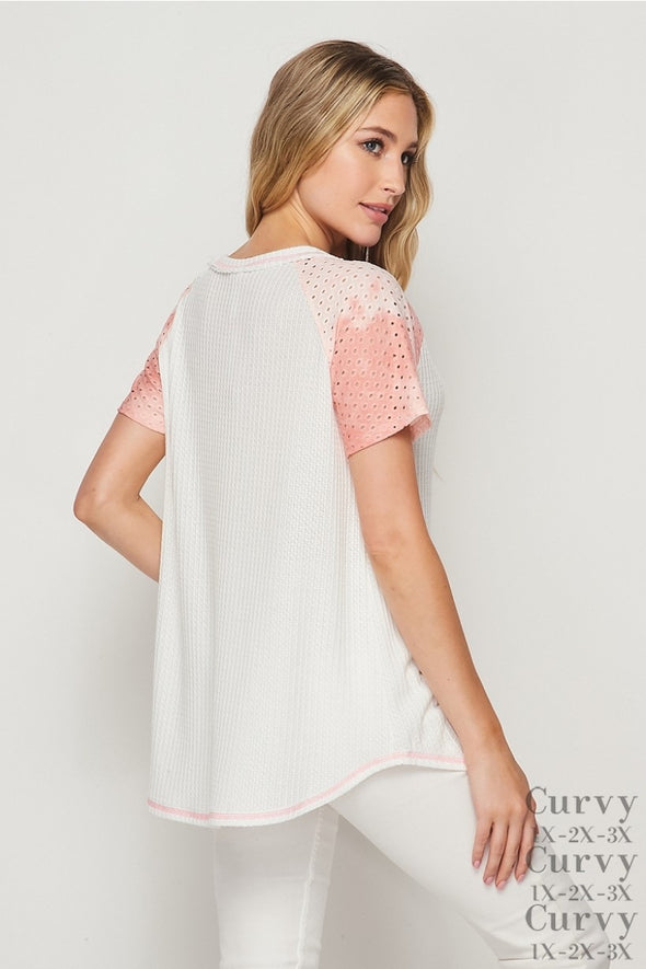 Honeyme Blush Sleeve Top