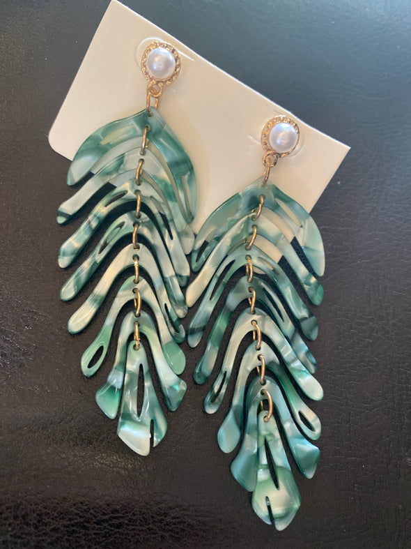 Acrylic Feather Earrings