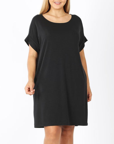 Short Sleeve Dress With Pockets